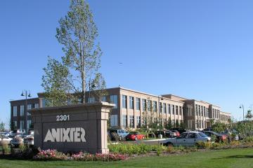 Anixter building with sign