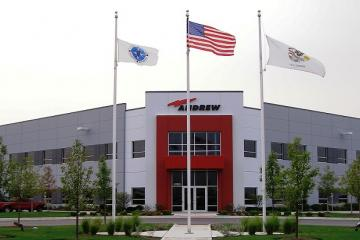 Andrew Corporation entry with flags