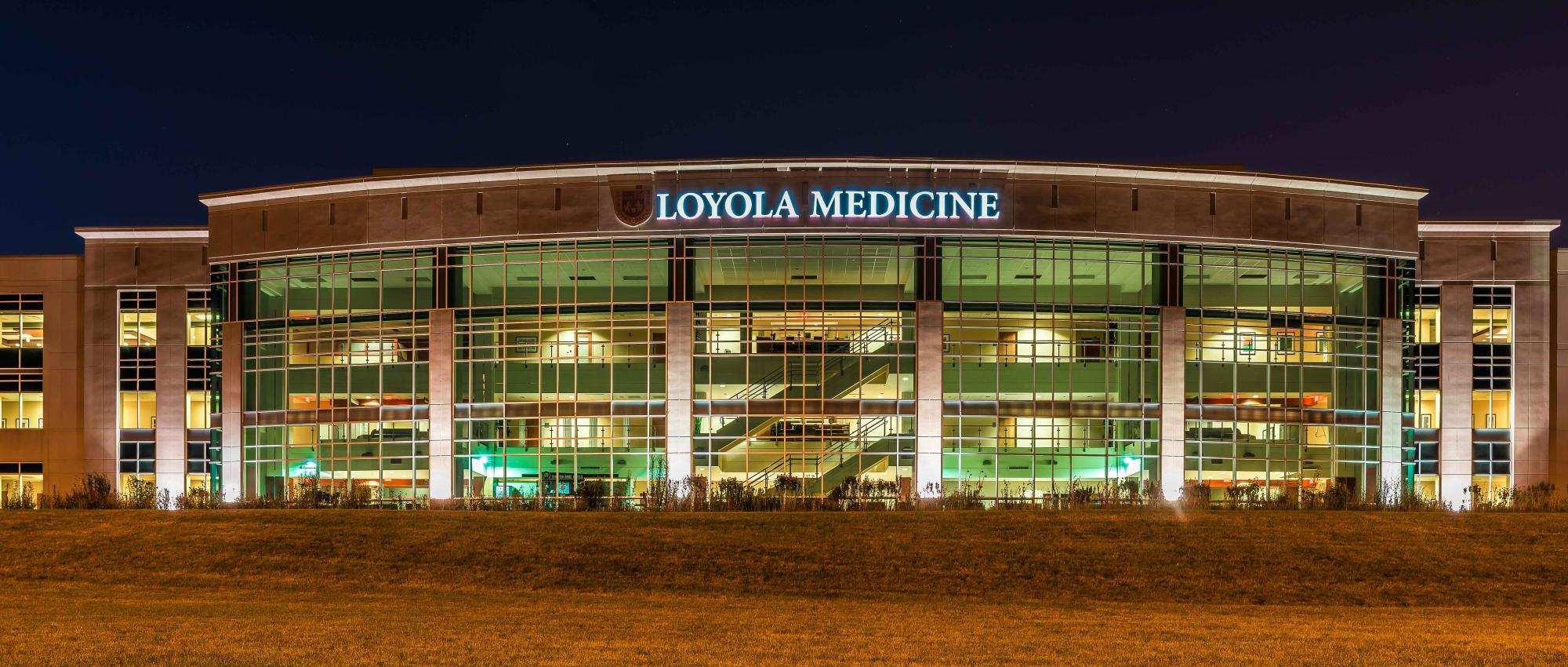 night pic of loyola